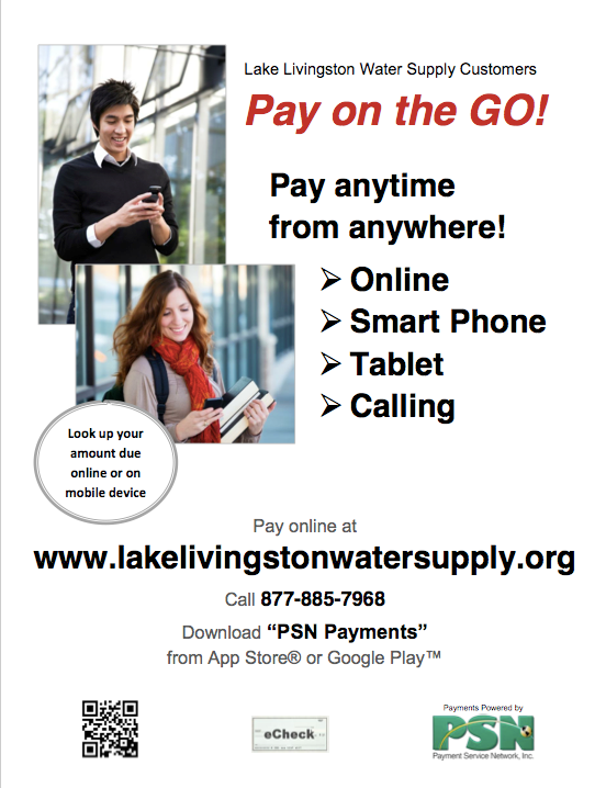 Bill Payment | Lake Livingston Water Supply Corp